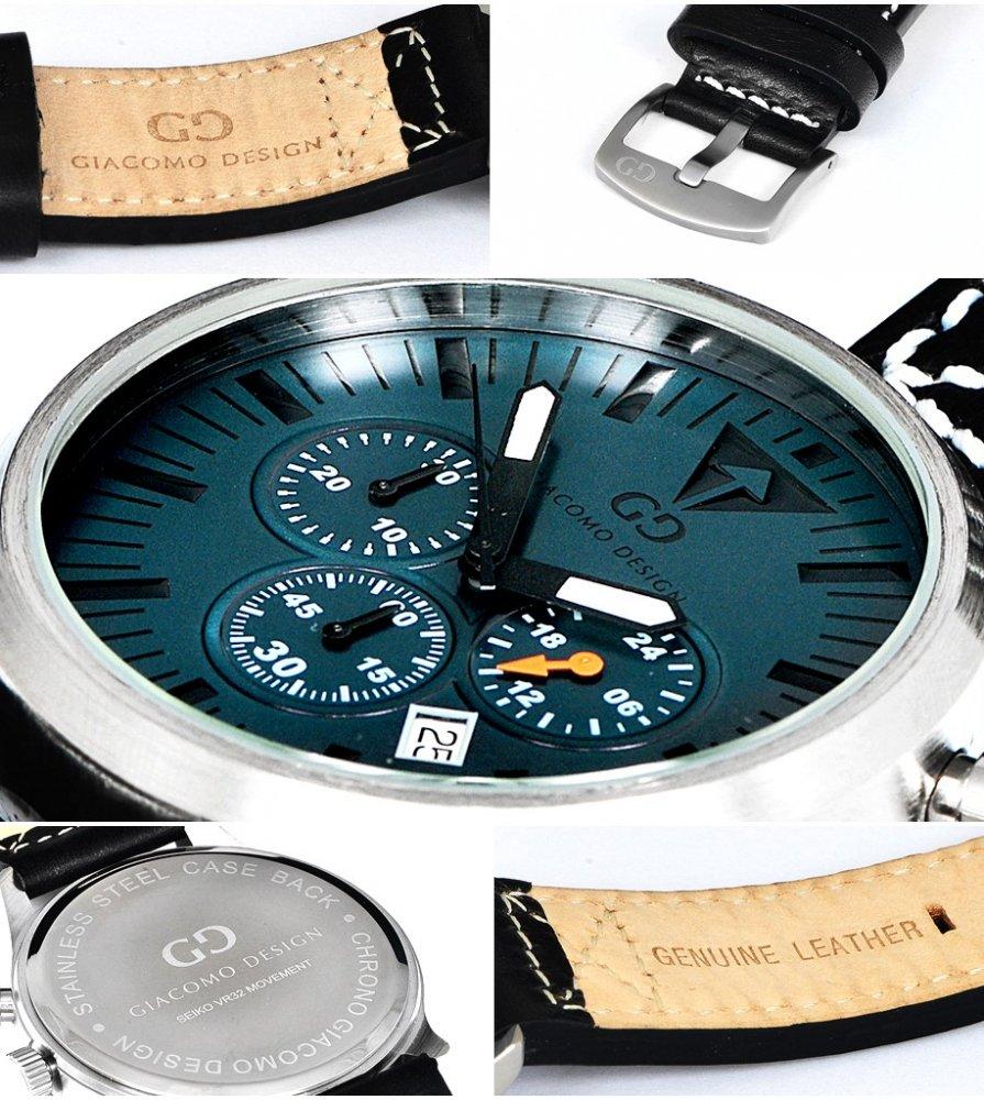 Giacomo Design Sportiva Blue/Brown leather