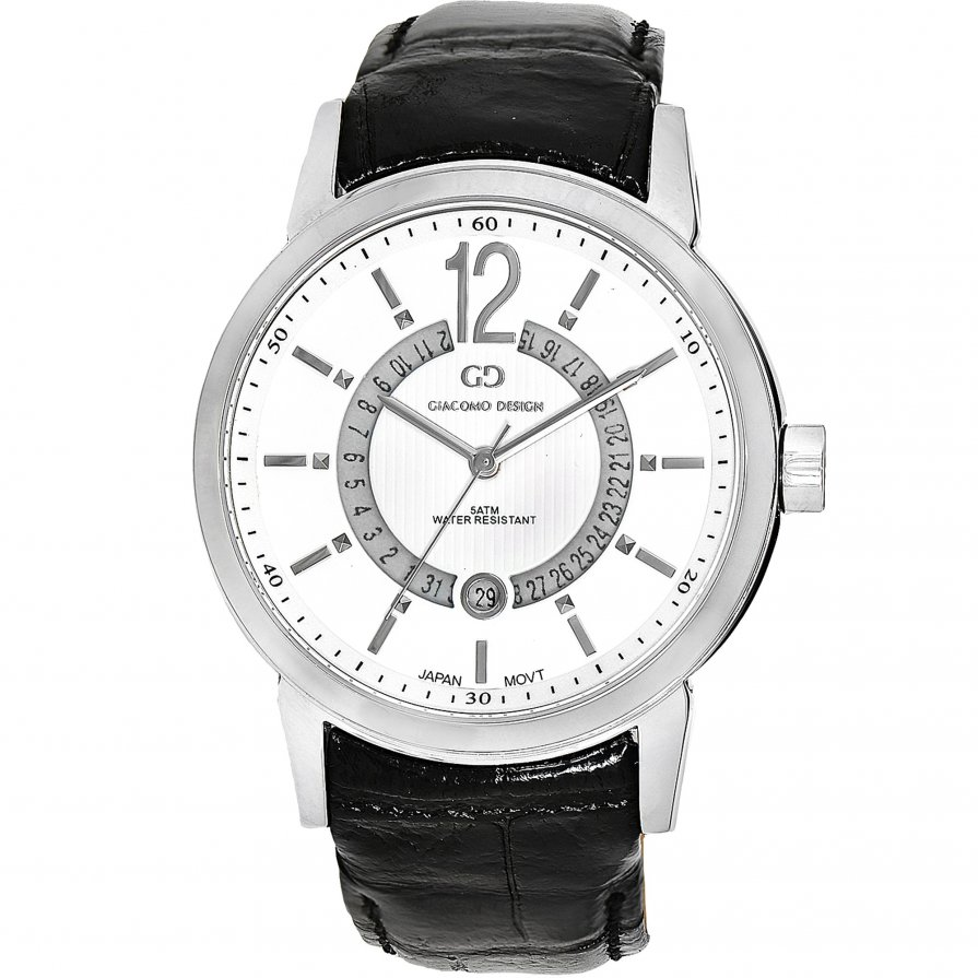 Giacomo Design Calendario White/Black leather