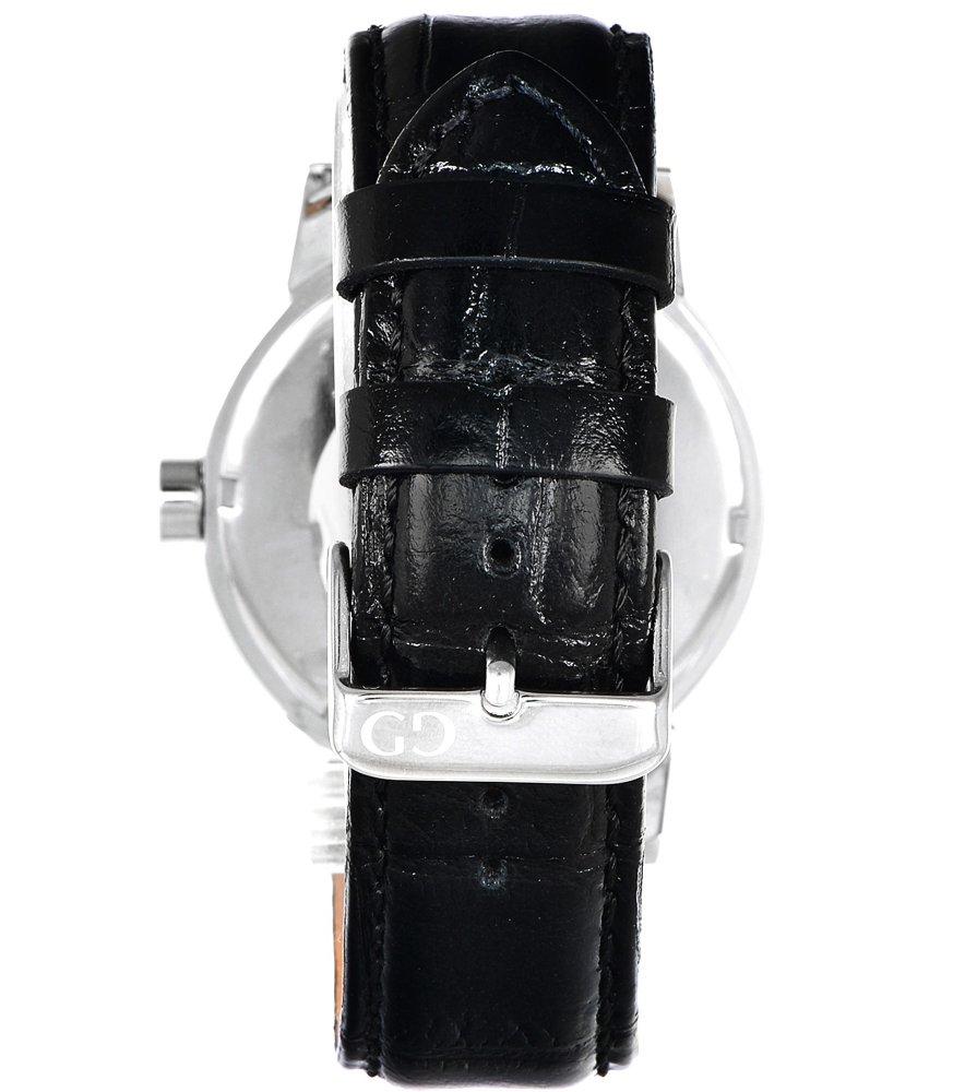 Elegant men's watch Giacomo Design GD05003 leather strap date