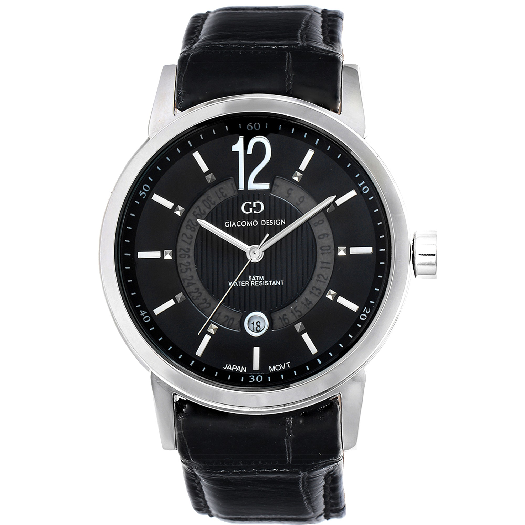 watches with strap leather braun gents classic watch front