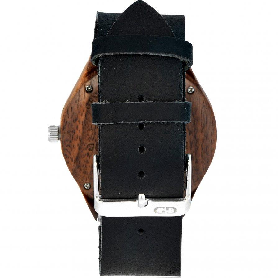 Men's watch Giacomo Design GD08004 Walnut Wood leather strap