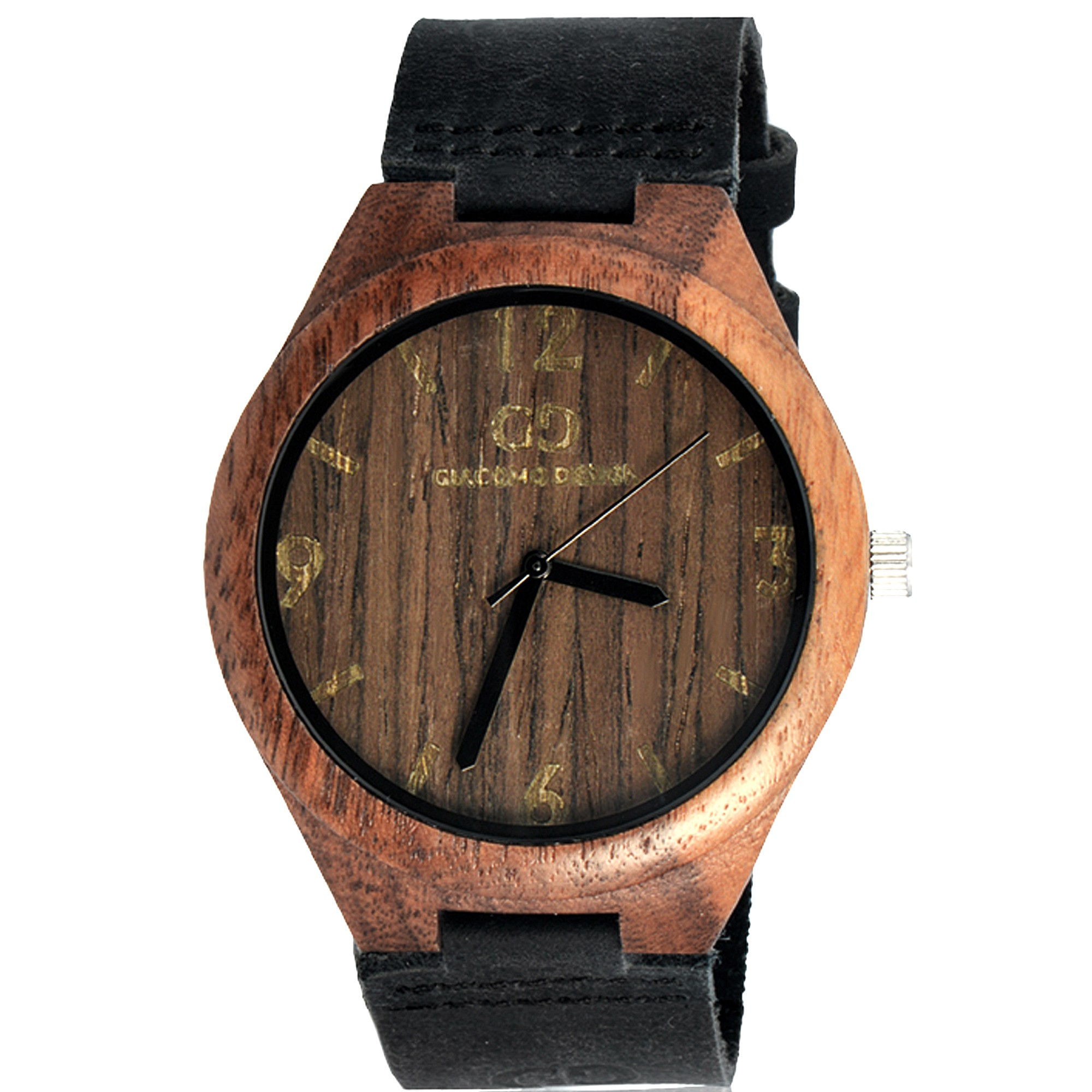 Men's watch Giacomo Design GD08004 Walnut Wood leather strap