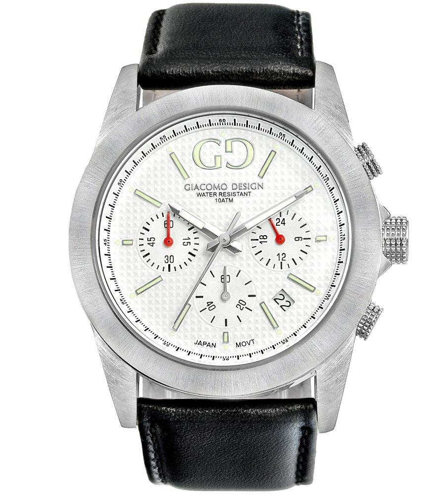 Giacomo Design Trepuntato White/Black leather