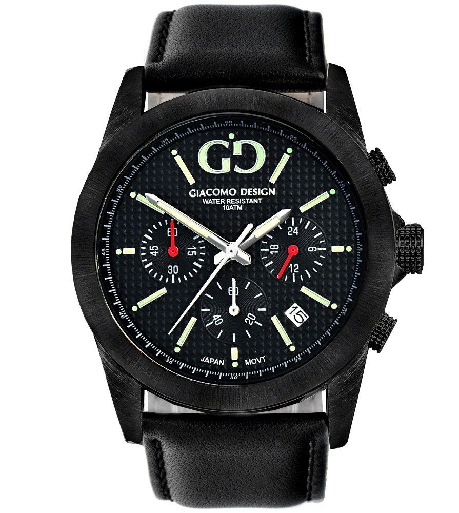 Giacomo Design Trepuntato Black/Black leather