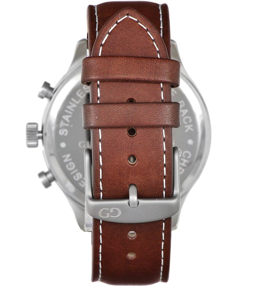 Giacomo Design Classico White/Dark Brown Leather