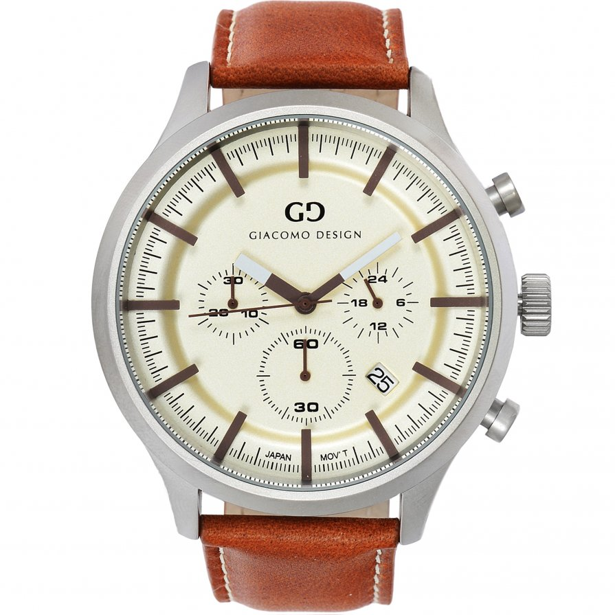 Giacomo Design Classico Cream/Brown Leather