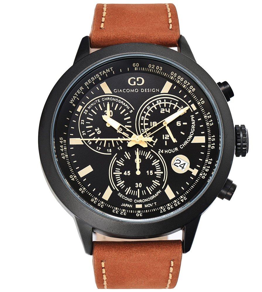 Giacomo Design Sportiva Black/Brown leather