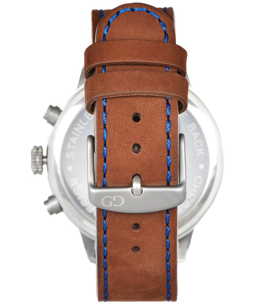 Elegant men's watch Giacomo Design GD02004 leather strap date chronograph