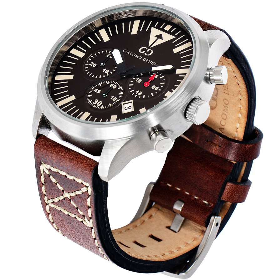 Giacomo Design Sportiva Brown/Brown leather