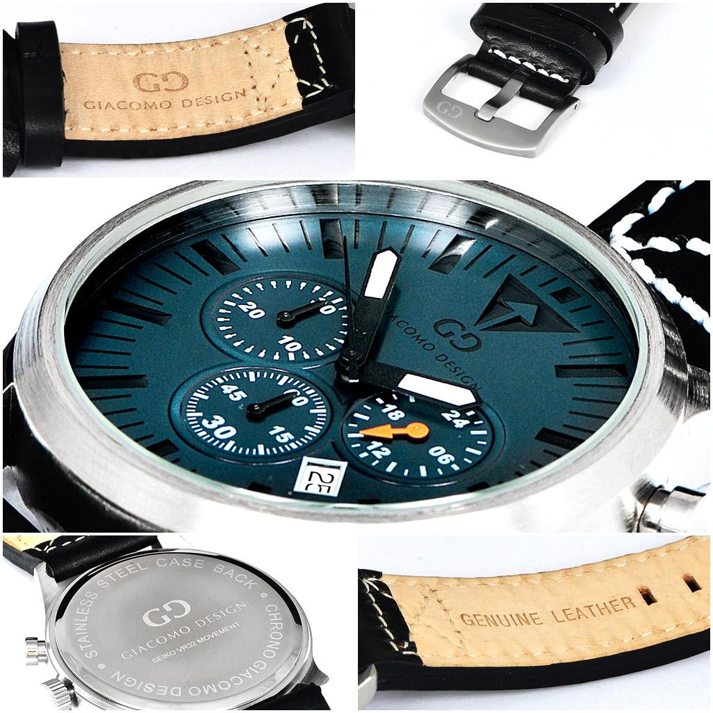 Giacomo Design Sportiva Black/Black leather