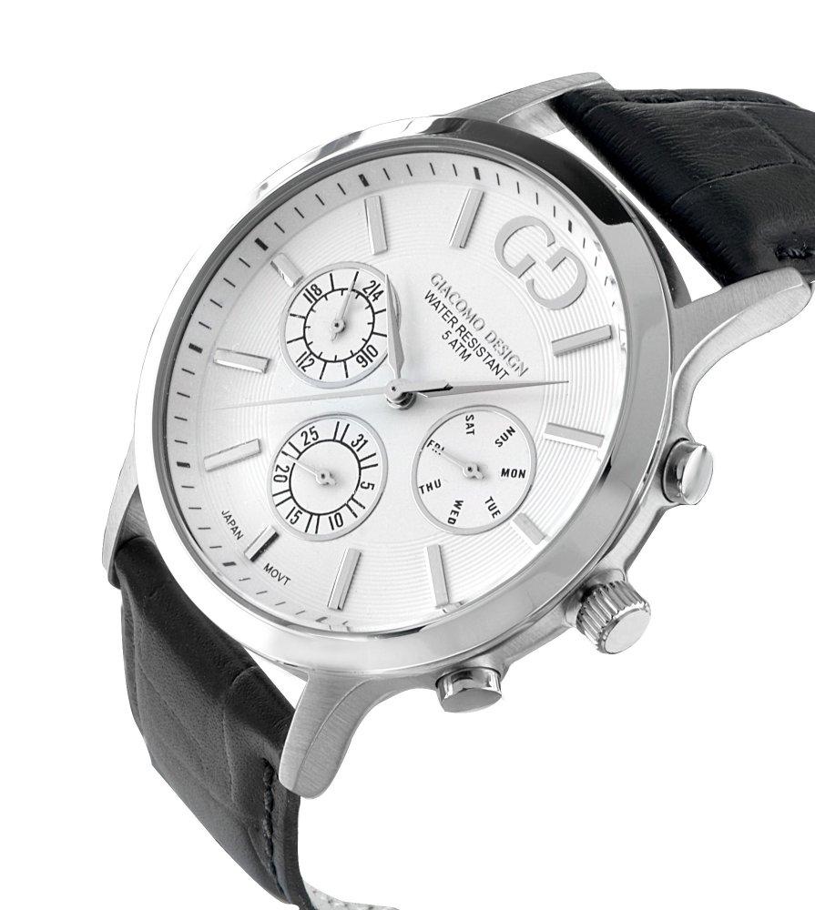 Giacomo Design Leggibile White/Black leather