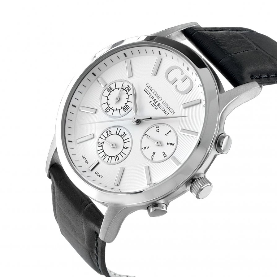 Giacomo Design Leggibile White/Black leather