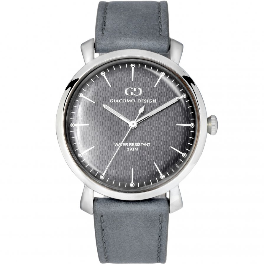 Elegant men's watch Giacomo Design GD9006 leather strap