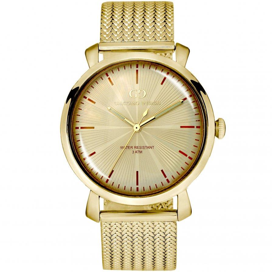 Elegant men's watch Giacomo Design GD9004 gold bracelet