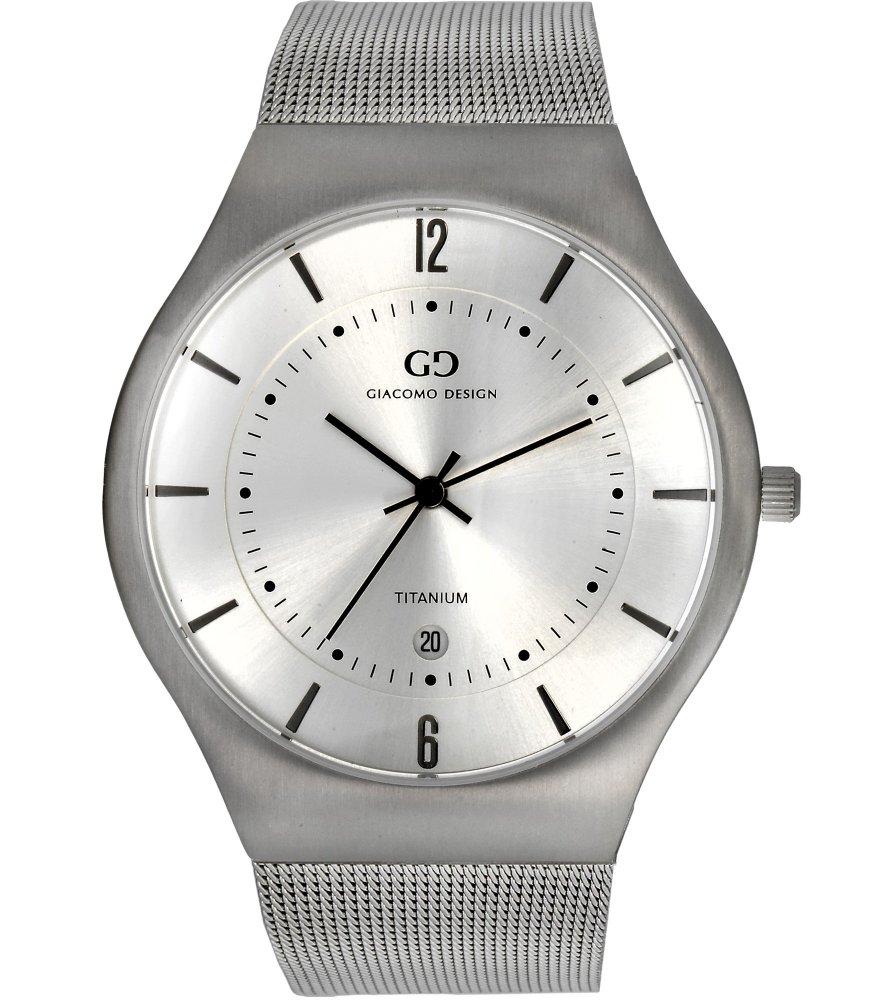 Titanium men's watch Giacomo Design GD12001 bracelet