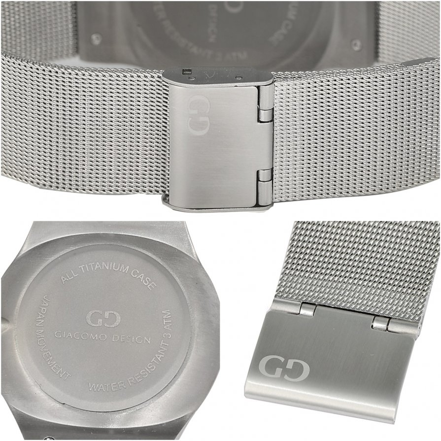 Titanium men's watch Giacomo Design GD12003 bracelet