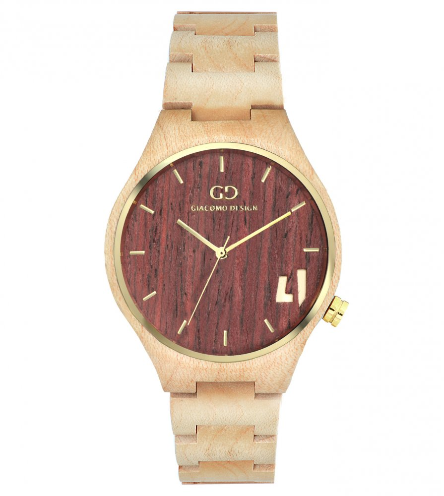 Giacomo Design wood watch Eccezionali Quattro maple wood