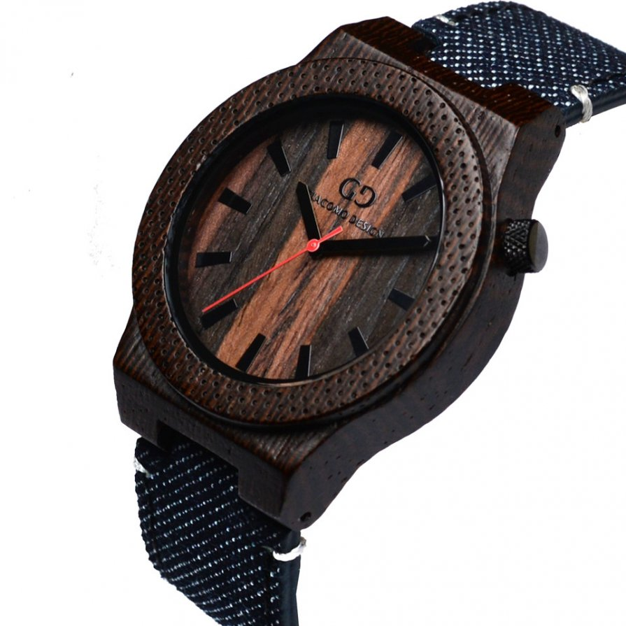 Men's watch Giacomo Design Orologio Massiccio wenge wood