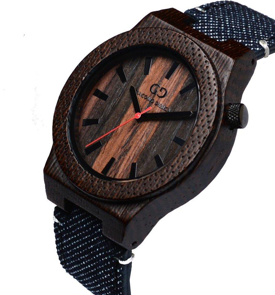 Men's watch Giacomo Design Orologio Massiccio wenge wood