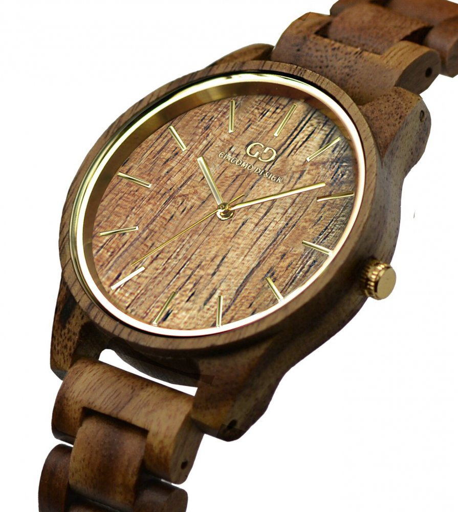 Wood watch Giacomo Design Eleganza Semplice for Ladies Koa wood