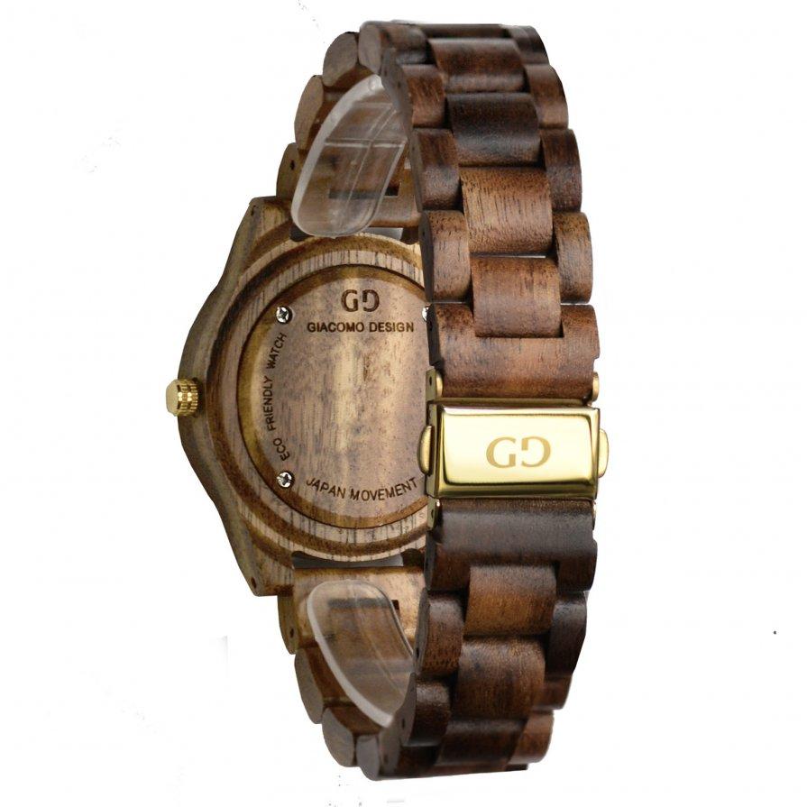 Wood watch Giacomo Design Eleganza Semplice for Ladies Koa wood
