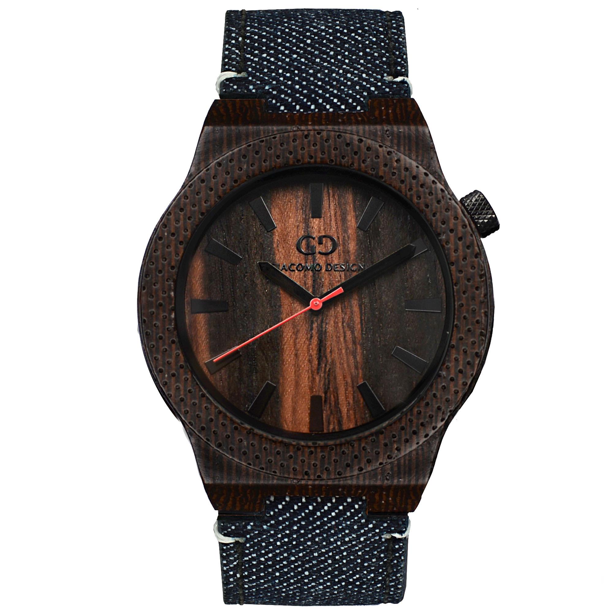 69d3941c11b92b Męski zegarek Giacomo Design Orologio Massiccio drewno wenga ...