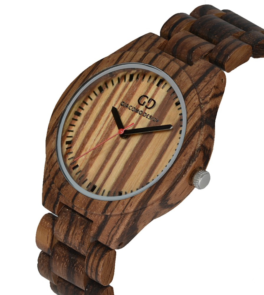 Giacomo Design wood watch Bellezza Semplice Zebra wood