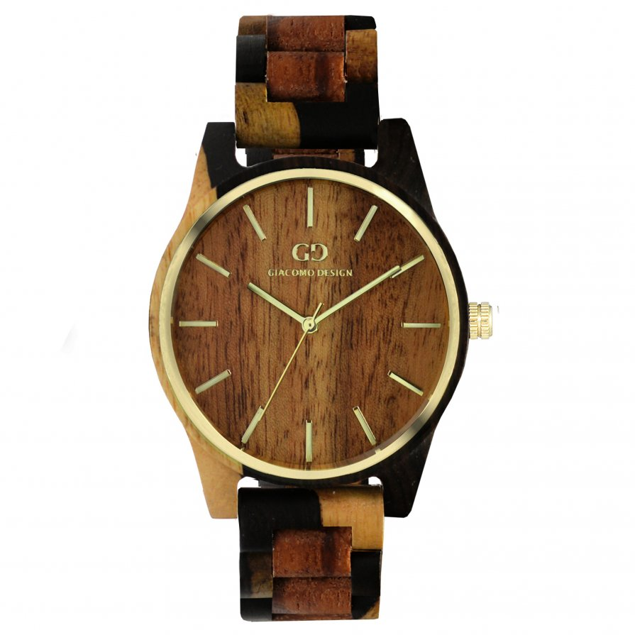 Giacomo Design wood watch Eleganza Semplice GD08205 rose/ sandal wood