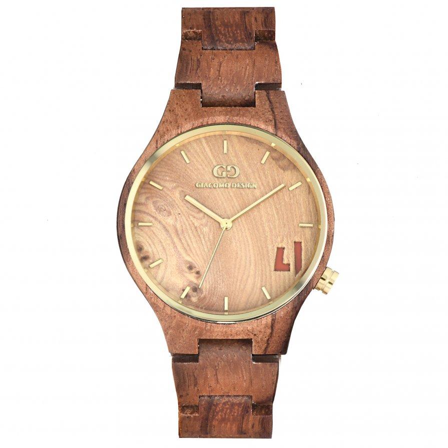 Giacomo Design wood watch Eccezionali Quattro rose wood