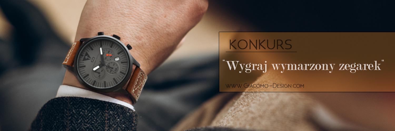 Giacomo Design rozdaje zegarki!